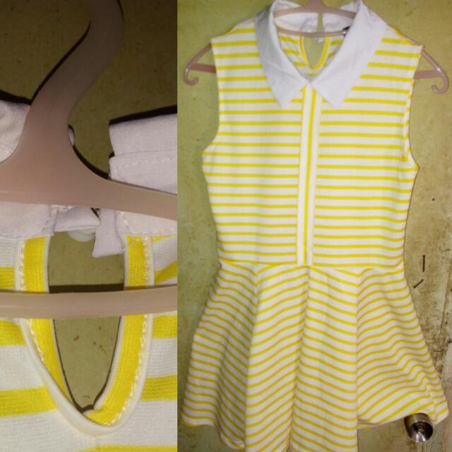 Yellow/White Striped Dress