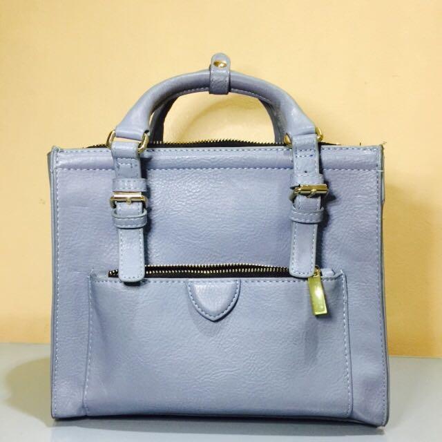ZARA Mini City Bag In Blue