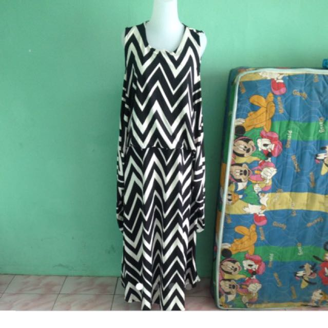 Zig Zag Dress Gamis Kutung
