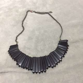 Black Geometric Necklace