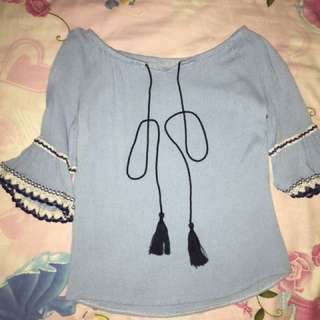 Blue Bell Opening Sleeve Blouse