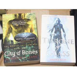 BRAND NEW City of Bones / Throne of Glass Paperback Books