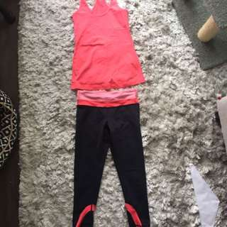 Lululemon Active Crops & Matching Tank