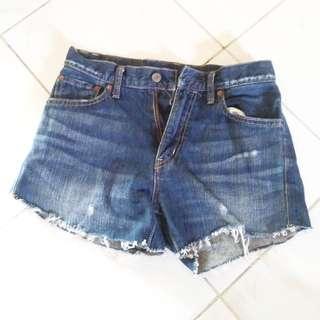 Hot Pants Biru Dongker