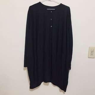 黑色棉質洋裝
