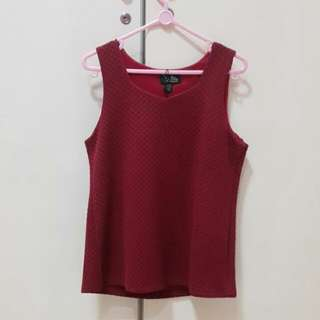 Textured Red Tank
