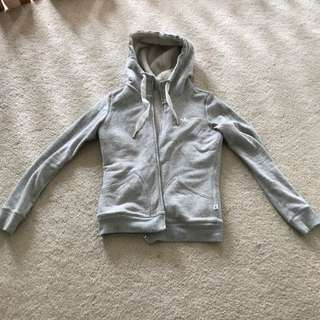 Adidas Light Gray Zip Up Hoodie