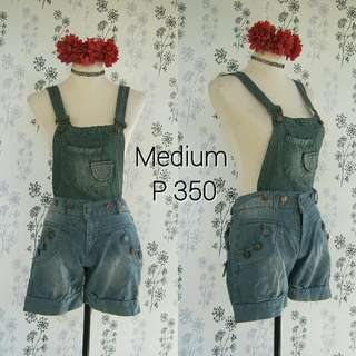 Detachable Denim Jumper Shorts