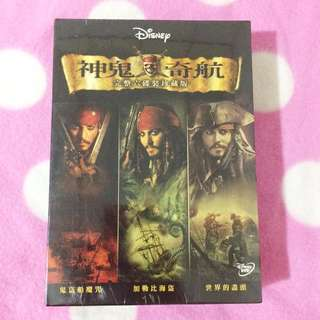 迪士尼 神鬼奇航1.2.3 正版DVD 強尼戴普