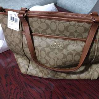 Authentic Coach Pocket Tote