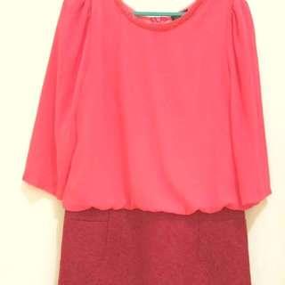 Pink motif dress