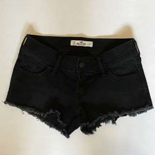 Hollister Black Short Shorts (size 00)