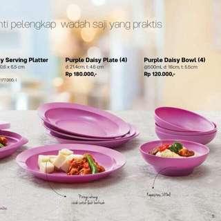 purple daisy plate tupperware 180 disk 125