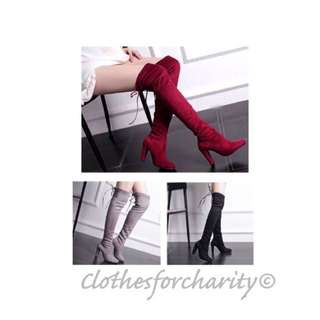 FREE POSTAGE - Over Knee High Heeled Boots