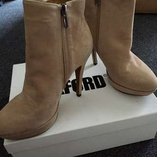OXFORD leather suede ankle boots