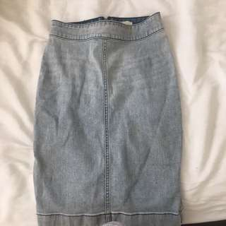 Aritzia- Wilfred Free Denim Skirt