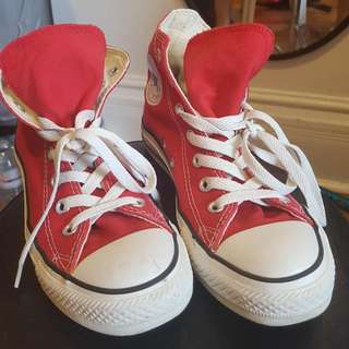 Classic High Top Red Converse