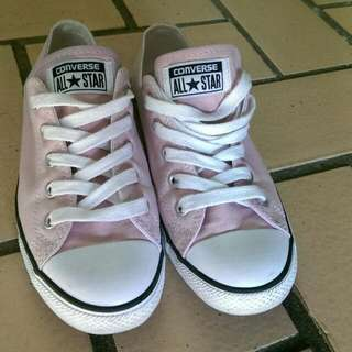 CONVERSE Womens Pink All Star Dainty Shoes Size 7 AU
