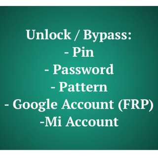Unlock / Bypass Services