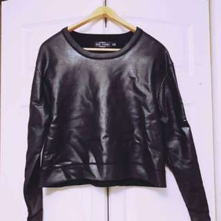 Waxed Black Pullover