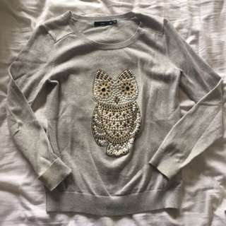 Owl Sequin Sweater