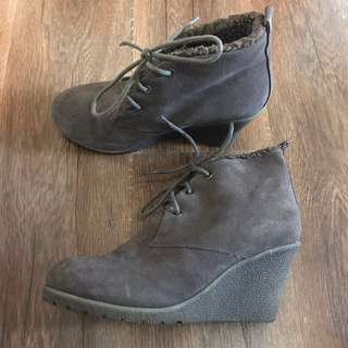 I Love Billy Winter Fur Wedge Boots 38