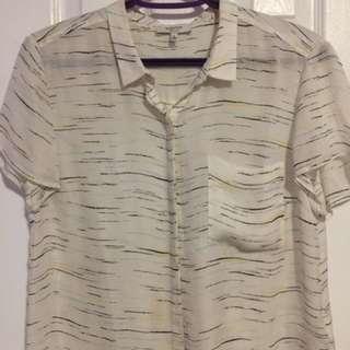 Aritzia Babaton Silk Tshirt Blouse
