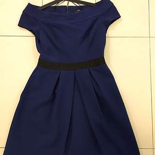 Cue Blue Dress Size 12