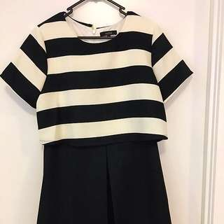 Black And White Dress SiZe L