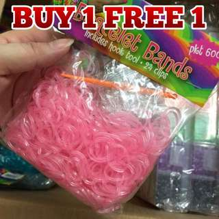 Rainbow Loom rubber bands - 600 pcs
