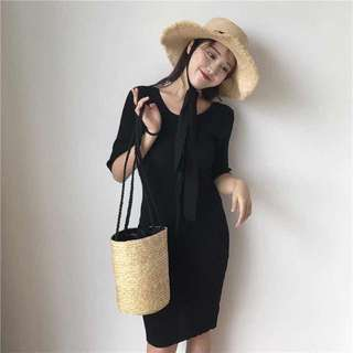 Bare Back Knitted Dress