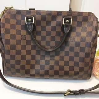 Authentic Louis Vuitton Bandouliere Damier Ebene 30