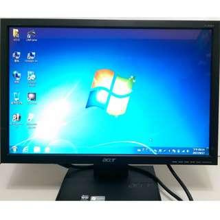 二手出清 宏碁 ACER V193W 19吋(16:10) 液晶螢幕 寬螢幕