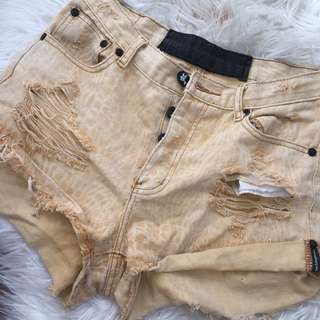 One Teaspoon Denim Vintage Style Shorts