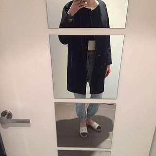SABA Slightly Padded Coat In Black