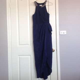 FOREVER NEW Halter Neck Formal Dress - Navy Blue