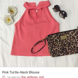 Pink Turtle Neck Blouse