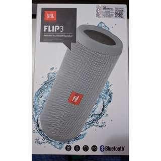 Brand New Sealed JBL Flip 3 Portable Splashproof Bluetooth Speaker (Grey)
