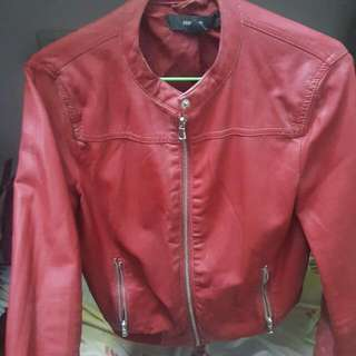 FOREVER21 Red Leather Jacket
