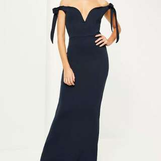 Missguided Navy Formal Dress