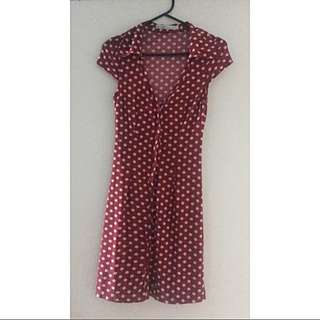 Pin Up red Polka Dot Dress