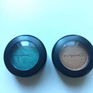 MAC eyeshadows 'Steamy' and 'Casino'