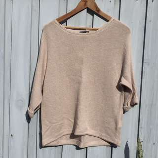 Nude/cream Coloured H&M Knit Top, Size S