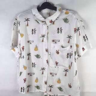 [Brand New] Bershka Button-Up Shirt