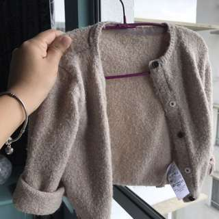 Sparkly Peach Cardigan For Girls