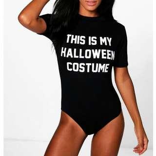 Black Halloween Bodysuit