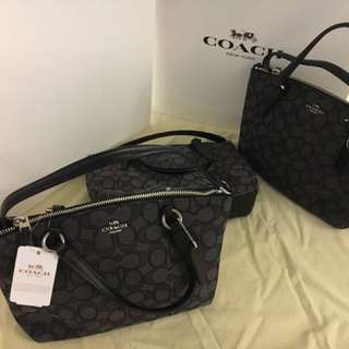 Coach Mini Kelsey Signature - Black