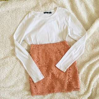 MNG Basic White Long Sleeves