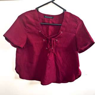 Red Wine Crop Top