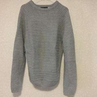 Pull & Bear Sweater | Abu-abu | Size M | Jarang Pakai